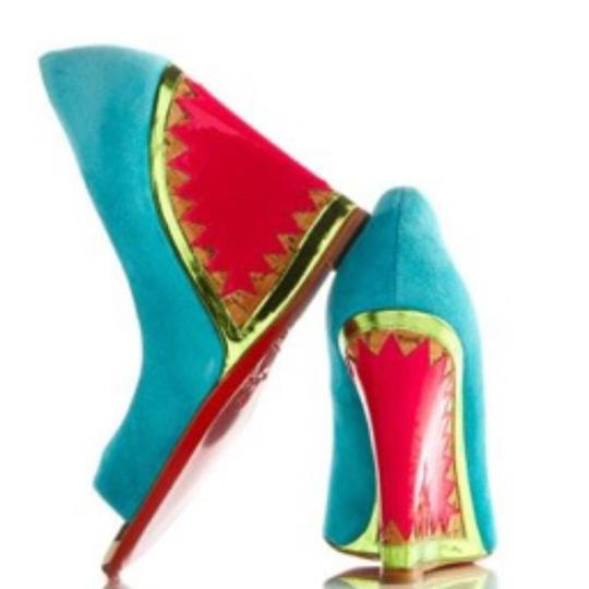 Preload https://item1.tradesy.com/images/christian-louboutin-turquoise-pink-miramar-120mm-suede-and-patent-wedges-size-eu-385-approx-us-85-re-23337305-0-0.jpg?width=440&height=440