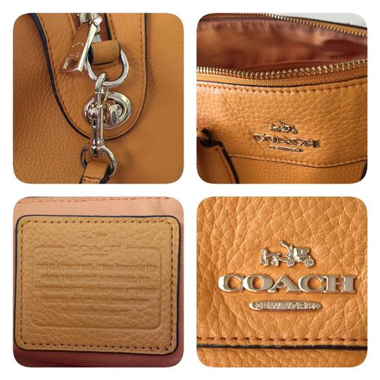 Coach Satchel in yellow-orange