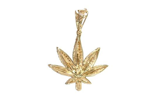 other 10KT. Yellow Gold Franco Chain with Diamond Fancy Pendant Charm Image 5