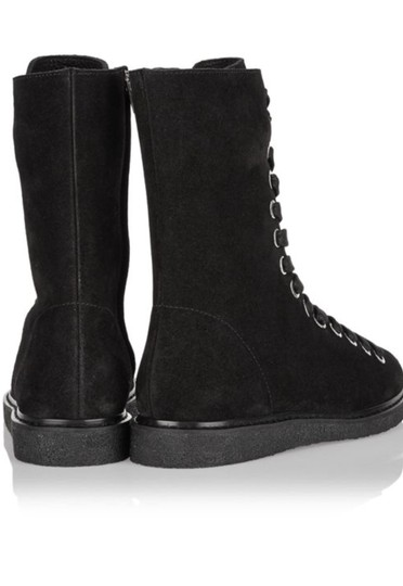 Alexander Wang Flat Suede Casual Comfortable Black Boots