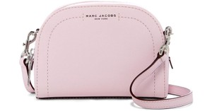 Marc Jacobs Saffiano Half Moon Half Round Cute Compact Cross Body Bag