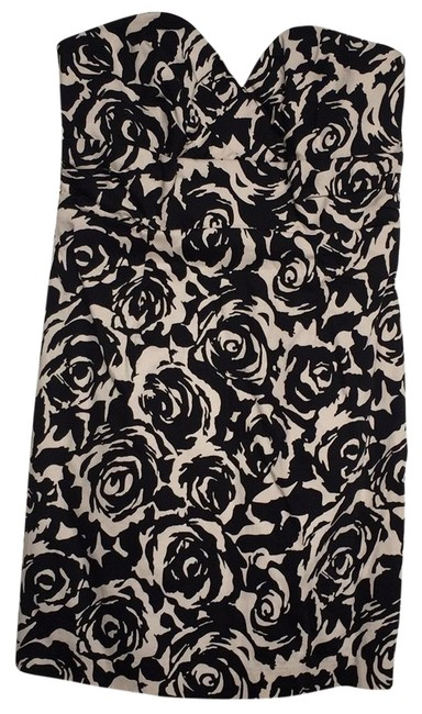 Preload https://item5.tradesy.com/images/black-and-cream-floral-prints-081j0315956-short-cocktail-dress-size-4-s-23337389-0-1.jpg?width=400&height=650
