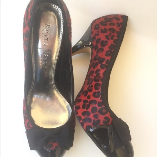 White House | Black Market Naomi Whbm Stiletto Red black Leopard Pumps