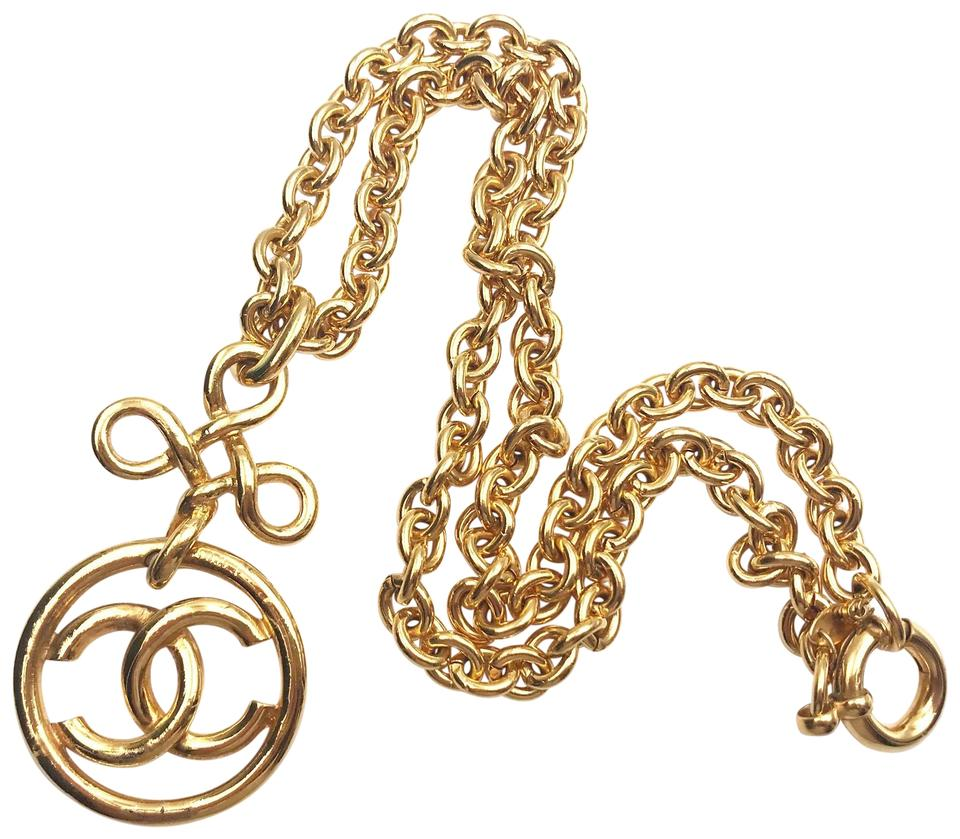 4a291ae155dc Chanel Chanel Vintage Gold Plated Twisted CC Round Chunky Chain Necklace  Image 0 ...