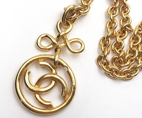 Chanel Chanel Vintage Gold Plated Twisted CC Round Chunky Chain Necklace