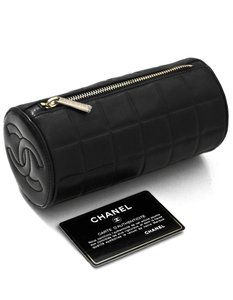 Chanel Chanel Black Lambskin CC Cosmetic Case