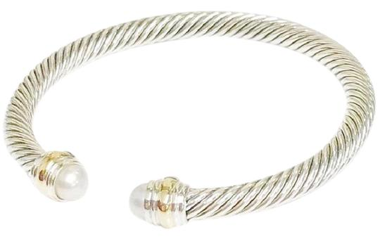 Preload https://item1.tradesy.com/images/david-yurman-never-worn-pearl-14k-and-sterling-silver-cable-bangle-14k-yellow-gold-and-sterling-silv-23337440-0-1.jpg?width=440&height=440
