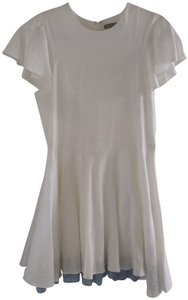 Opening Ceremony short dress White Spring Linen Ruffle on Tradesy