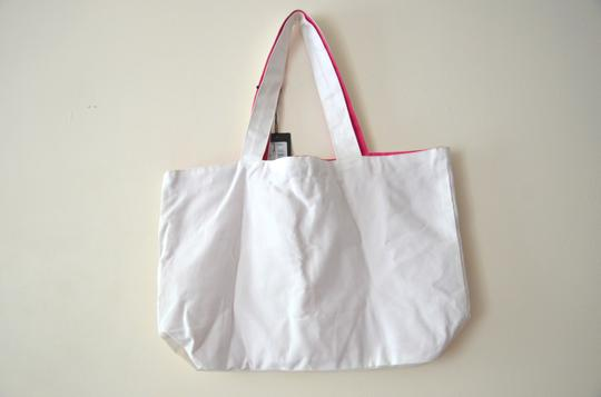 Patrizia Pepe Summer Canvas Tote in white