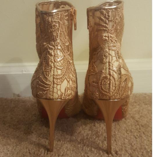 Christian Louboutin Rose Gold Boots