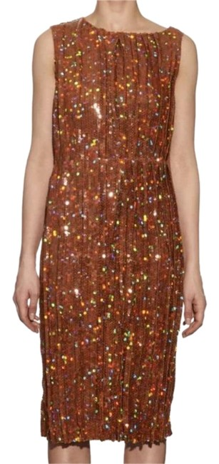 Preload https://item1.tradesy.com/images/nina-ricci-orange-pleated-sequin-embellished-mid-length-cocktail-dress-size-4-s-23337550-0-1.jpg?width=400&height=650