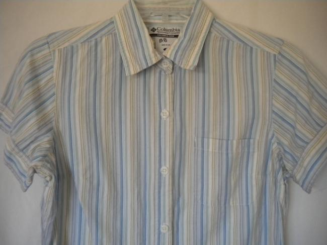 Columbia Sportswear Company Button Front Short Sleeve Button Down Shirt Multi-Color