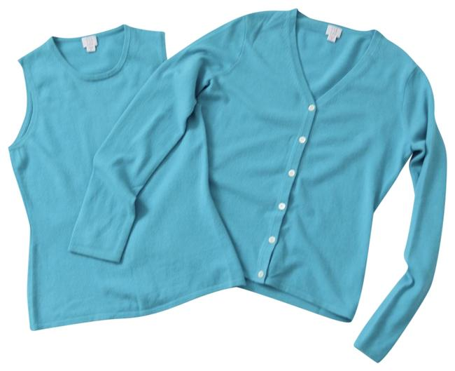 Preload https://item3.tradesy.com/images/tse-turquoise-cashmere-cardi-set-cardigan-size-8-m-23337597-0-1.jpg?width=400&height=650