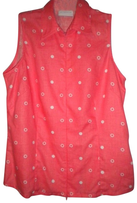 Preload https://item5.tradesy.com/images/liz-claiborne-coralwhite-women-tank-topcami-size-4-s-23337599-0-2.jpg?width=400&height=650