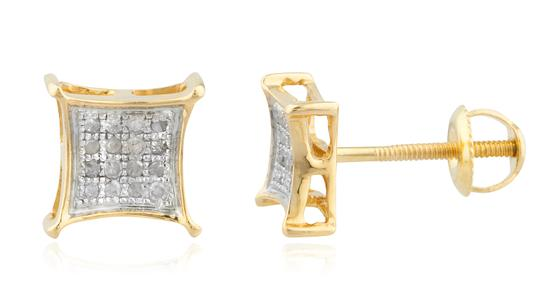 Preload https://item3.tradesy.com/images/gold-mens-10k-08ct-diamond-stud-5mm-square-kite-pave-studs-earrings-23337637-0-0.jpg?width=440&height=440