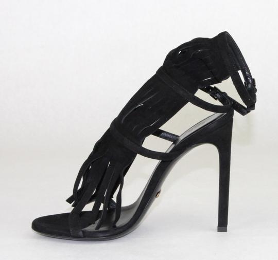 Gucci Womens Suede Becky Black Sandals