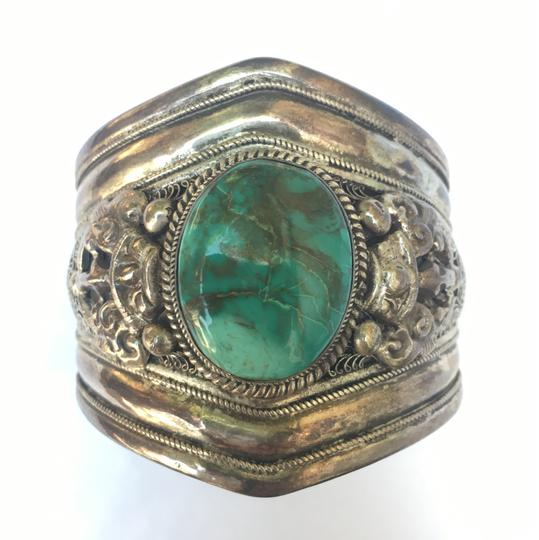 Preload https://img-static.tradesy.com/item/23337666/silver-turquoise-sterling-and-cuff-bracelet-0-0-540-540.jpg