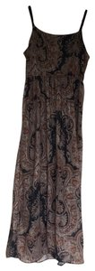 Printed flower- Brown Maxi Dress by Simplicity