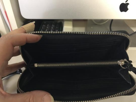 Chloé Chloe black zipper wallet with decorative lock and key