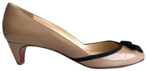 Christian Louboutin Kitten Heel 40mm Bow Pigalle Nude Pumps