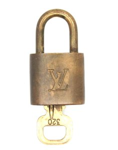 Louis Vuitton #18560 Gold Tone Brass Lock and key set #320 Speedy Alma Keepall bag