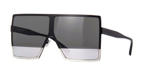 Saint Laurent Saint Laurent SL182 Betty 002 Black w/Grey and Silver Mirror Lens