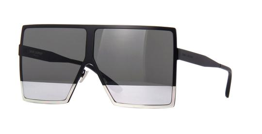 Saint Laurent Saint Laurent SL182 Betty 002 Black w/Grey and Silver Mirror Lens Image 3