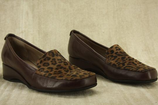 Anyi Lu Italian Work Penny Party Brown Wedges