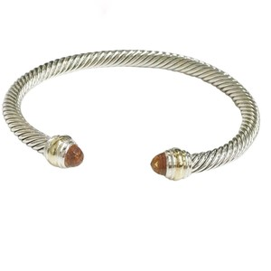 "David Yurman BRAND NEW!! NEVER WORN!! David Yurman Citrine 14 Karat Yellow Gold and Sterling Silver Cable Bracelet NWOT Fits up to 7.25"" 5mm Medium 100% Authentic Guaranteed!!! Comes with David Yurman Pouch!!"