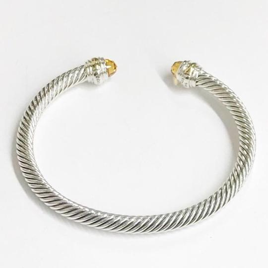 David Yurman BRAND NEW!! NEVER WORN!! David Yurman Citrine 14 Karat Yellow Gold and Sterling Silver Cable Bracelet NWOT Fits up to 7.25