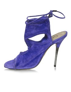 Aquazzura Ankle Suede purple Boots