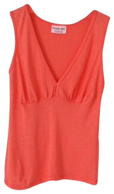 Preload https://item3.tradesy.com/images/michael-stars-pink-pleated-v-neck-tank-topcami-size-os-one-size-23337837-0-2.jpg?width=400&height=650