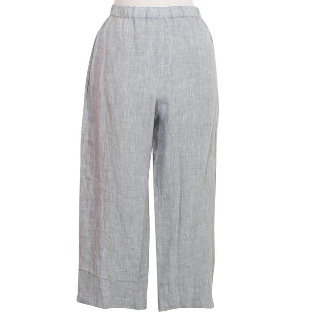 Preload https://item4.tradesy.com/images/eileen-fisher-chambray-blue-yarn-dyed-organic-handkerchief-linen-pm-pants-size-petite-10-m-23337873-0-0.jpg?width=400&height=650