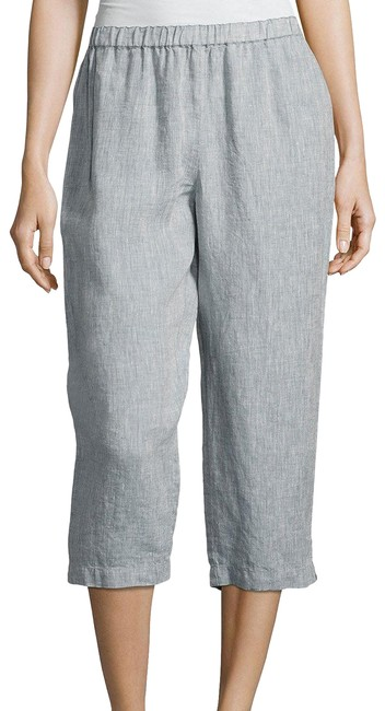 Preload https://img-static.tradesy.com/item/23337873/eileen-fisher-chambray-blue-yarn-dyed-organic-handkerchief-linen-pm-pants-size-petite-10-m-0-2-650-650.jpg