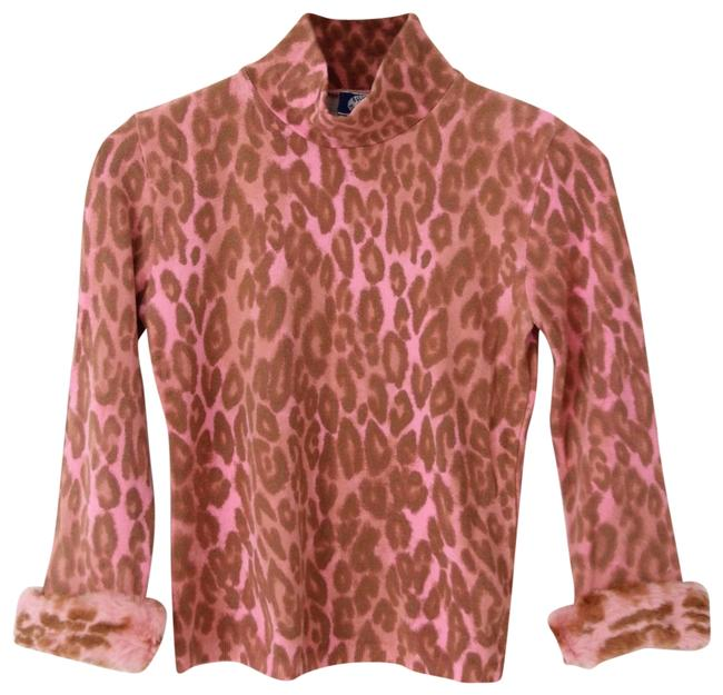 Preload https://img-static.tradesy.com/item/23337922/blugirl-pink-animal-with-faux-fur-blouse-size-4-s-0-2-650-650.jpg