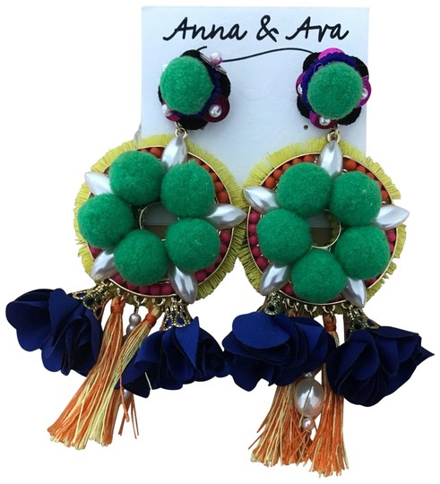 Preload https://item4.tradesy.com/images/anna-and-ava-multicolor-spanish-statement-cruise-bead-pom-pom-pop-pearl-dangling-earrings-23337968-0-4.jpg?width=440&height=440