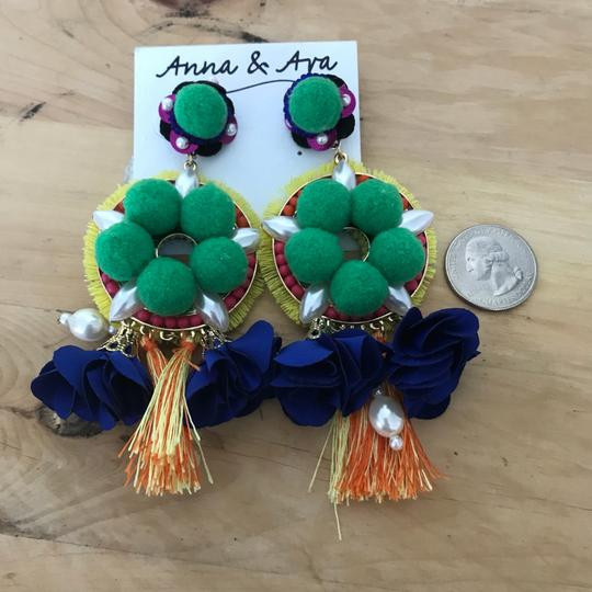 Anna & Ava Spanish statement cruise bead Pom pom pop pearl dangling
