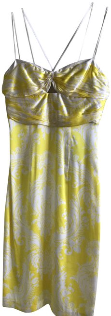 Preload https://item1.tradesy.com/images/marciano-yellowwhite-mid-length-night-out-dress-size-6-s-23337970-0-1.jpg?width=400&height=650