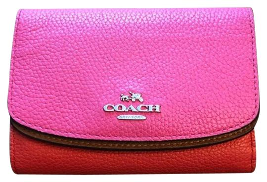 Preload https://item3.tradesy.com/images/coach-pink-colorblock-trifold-wallet-23337972-0-2.jpg?width=440&height=440