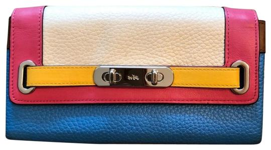 Preload https://item1.tradesy.com/images/coach-rainbow-colorblock-swagger-wallet-23337975-0-2.jpg?width=440&height=440