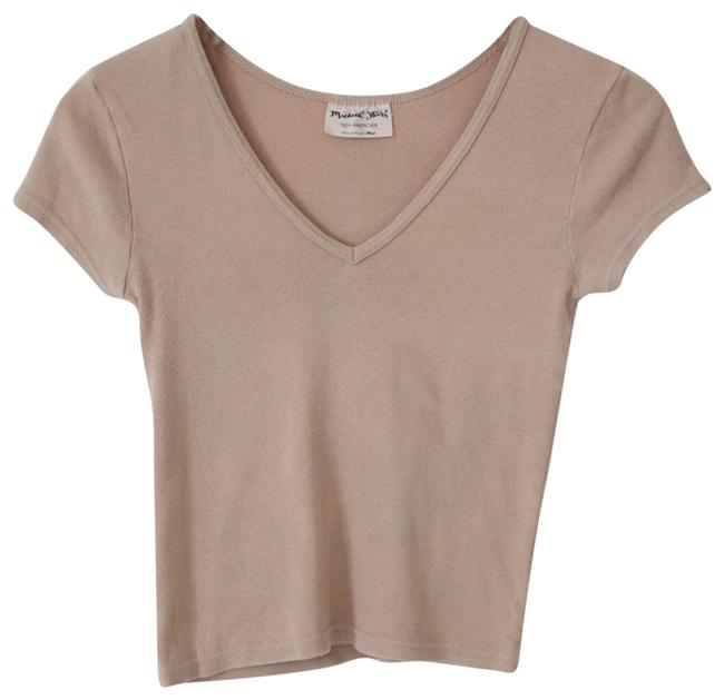Preload https://item2.tradesy.com/images/michael-stars-beige-all-cotton-v-neck-tee-shirt-size-os-one-size-23337981-0-3.jpg?width=400&height=650