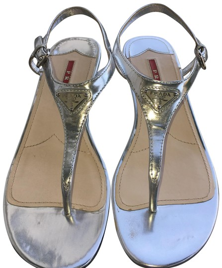 Preload https://item3.tradesy.com/images/prada-silver-3y5720-sandals-size-eu-36-approx-us-6-regular-m-b-23337982-0-2.jpg?width=440&height=440
