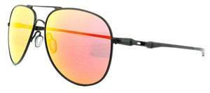 Oakley New Oakley Unisex Aviator Sunglasses OO4119-0460 Black Frame Iridium
