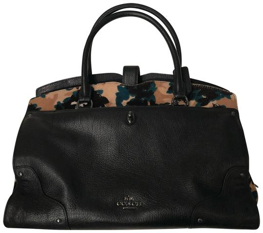Preload https://item2.tradesy.com/images/coach-mercer-printed-haircalf-black-leather-satchel-23337986-0-2.jpg?width=440&height=440