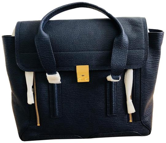Preload https://img-static.tradesy.com/item/23337993/31-phillip-lim-pashli-large-inknavy-full-grain-leather-satchel-0-1-540-540.jpg