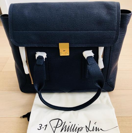 3.1 Phillip Lim Satchel in ink/navy Image 7