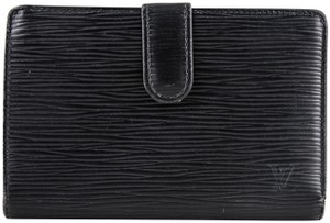 Louis Vuitton Louis Vuitton Epi French Lock Wallet Black