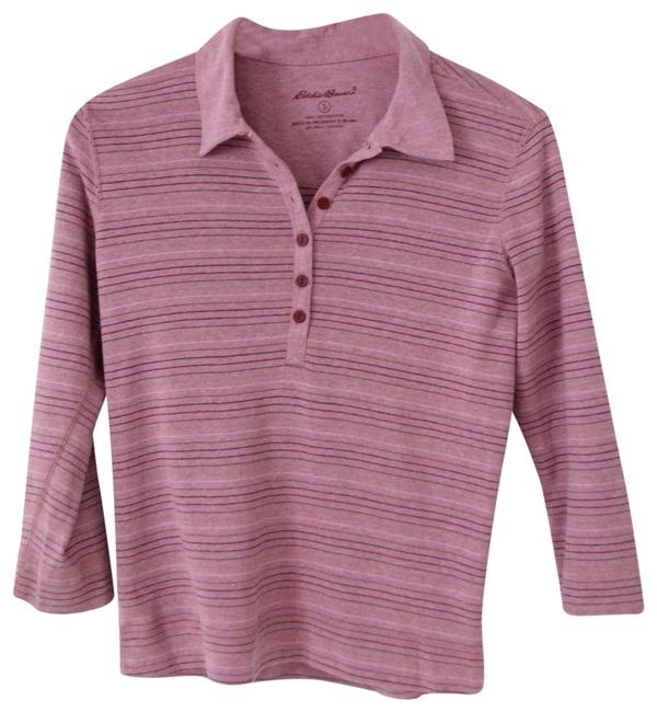 Preload https://img-static.tradesy.com/item/23338012/eddie-bauer-purple-striped-polo-henley-34-sleeve-tee-shirt-size-6-s-0-2-650-650.jpg