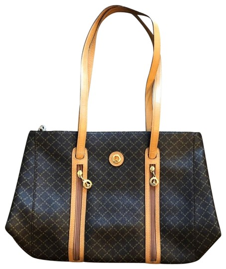 Preload https://img-static.tradesy.com/item/23338015/monogrammed-browntan-canvas-shoulder-bag-0-1-540-540.jpg