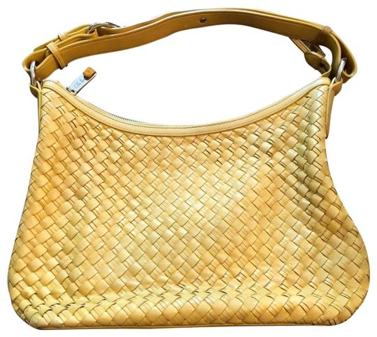Preload https://img-static.tradesy.com/item/23338023/cole-haan-woven-yellow-leather-shoulder-bag-0-2-540-540.jpg